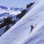 John Holleman keeps it tight and light. Tioga Peak, California.
