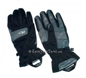 Outdoor Research: Vert Gloves  MSRP: $65  Warm when you're active, tough, and easy to put on even when you're hands are soaked.