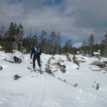 Heading up to Castle Peak with late season spring conditions - good corn even though its February.