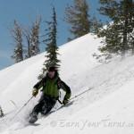 Brad Rassler enjoys fresh snow from yesterdays storm. More in the forecast too!
