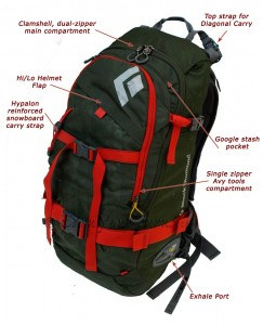 The Outlaw AvaLung™ pack for backcountry skiers and snowboarders