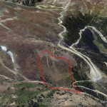 Google view of the terrain that trapped five.