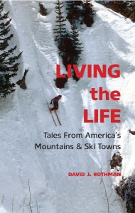 The cover to the author's new book: Living the Life. Available from Comstock Press.
