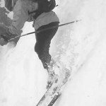 Weight back on the downhill ski as you cross the fall line.