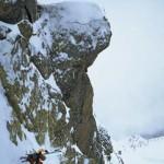 Sven Brunso pulls a windshield wiper turn in the alps.