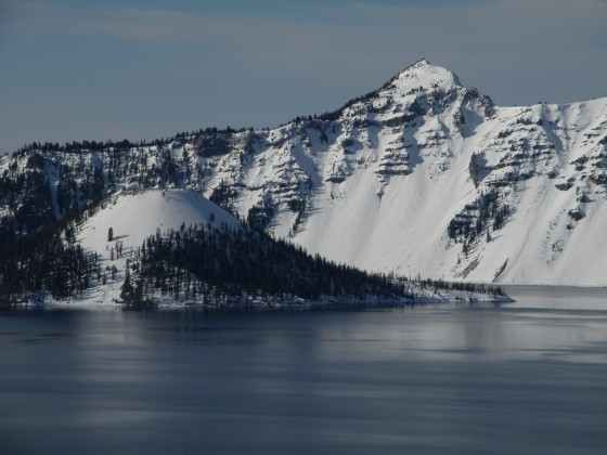 Crater Lake.  Nice lines but the runout can be problematic.  photo: jibmaster