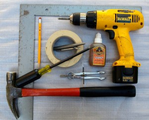All the tools you need, minus a jig. With a jig, you only need the drill, bits, and glue.