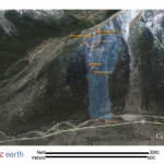 Google Earth view of terrain where two were killed in an avalanche on Feb. 15, 2014.