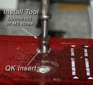 Thread the insert into the threaded hole.