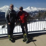 The BC boot test team - Bob Egeland and Dostie at Mt. Bachelor, OR.