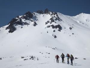 Heading up Mt. Lassen, mid-April 2014. Photo by Baaahb.