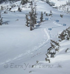 By contouring the micro-changes in terrain, you can hold a steady line Up.