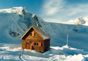Humble beginnings. Moloch Hut adds the option of touring deep into the Selkirk range.