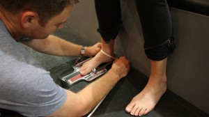 Getting the right fit means measuring your foot in 3 dimensions.