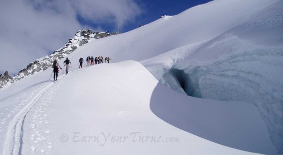 Traveling in glacial terrain is SOP at SME.