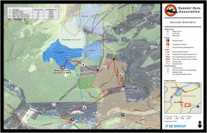 Map from USFS draft decision show location of Weber Hut with proposed trail access.