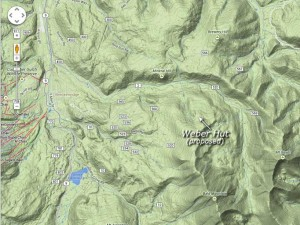Location of proposed Weber Hut