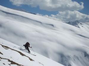 Skiing in Kashmir, India