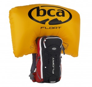 The airbag adds 150 liters of volume to keep you on or near the top.