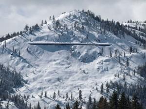 The full Lake Run is the north face of Tressel Peak.  1300' of ski heaven.