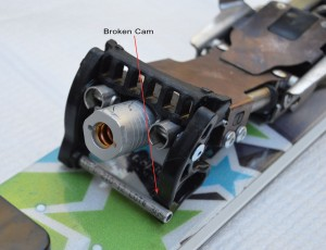 The trouble with an over-rotated step-in cam.
