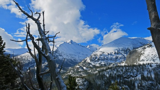 After the skies cleared, here's the white bounty at RMNP, 24may15.  Photo by James Kennedy.