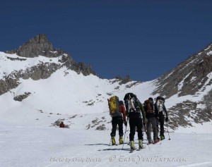 Heading to Milestone Col on the Sierra High Route in May 2011.