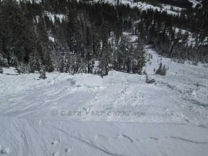 Skier triggered avalanche on Mt. Judah, California.