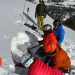 Getting a read on Colorado's early season snow lizards.