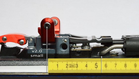 Position of the tele tension vector for v2.0 is approx. 55mm behind pin-line.
