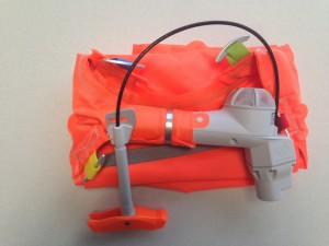 Mammut's new, integrated hardware assembly for their airbag inflation system.