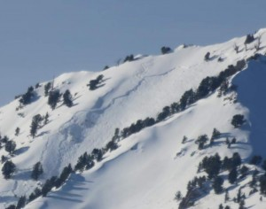 Avalanche that claimed the life of a Utah man on Gobbler's Knob in the Wasatch Mountains.