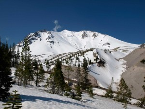 Lassen's N-Face from where the Devastation Zone hits the road.