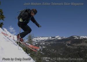 Madsen on Sugar Bowl's out-of-bounds Lake Run.