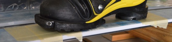 Put masking tape on top sheet where boot should be located.